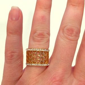 Lia Sophia Honeycomb Ring